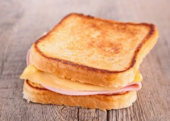 Processed cheese for toasted sandwiches